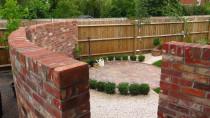 Reclaimed brick wall Fareham